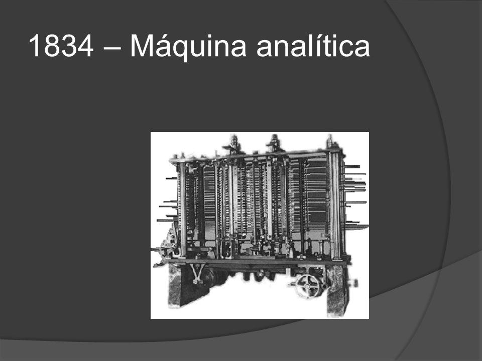 1834 – Máquina analítica