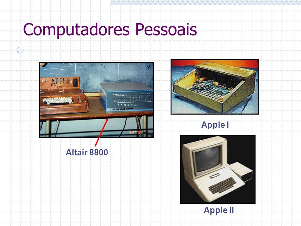 Altair 8800 Computadores Pessoais Apple I Apple II
