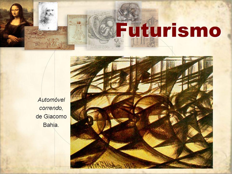 Futurismo Futurismo na literatura: A destruição da sintaxe e a disposição das palavras em liberdade; O emprego de verbos no infinitivo, com vistas à substantivação da linguagem; A abolição dos adjetivos e dos advérbios; O emprego do substantivo duplo (burguês-burguês, burguês-níquel, mulher-golfo) em lugar do substantivo acompanhado de adjetivo; A abolição da pontuação, que seria substituída por sinais da matemática (+), (-), (=), ( ) e pelos sinais musicais; A destruição do eu, isto é, toda a psicologia; Onomatopéias e imagens que incorporam o som das engrenagens da máquina; Percepção por analogia.