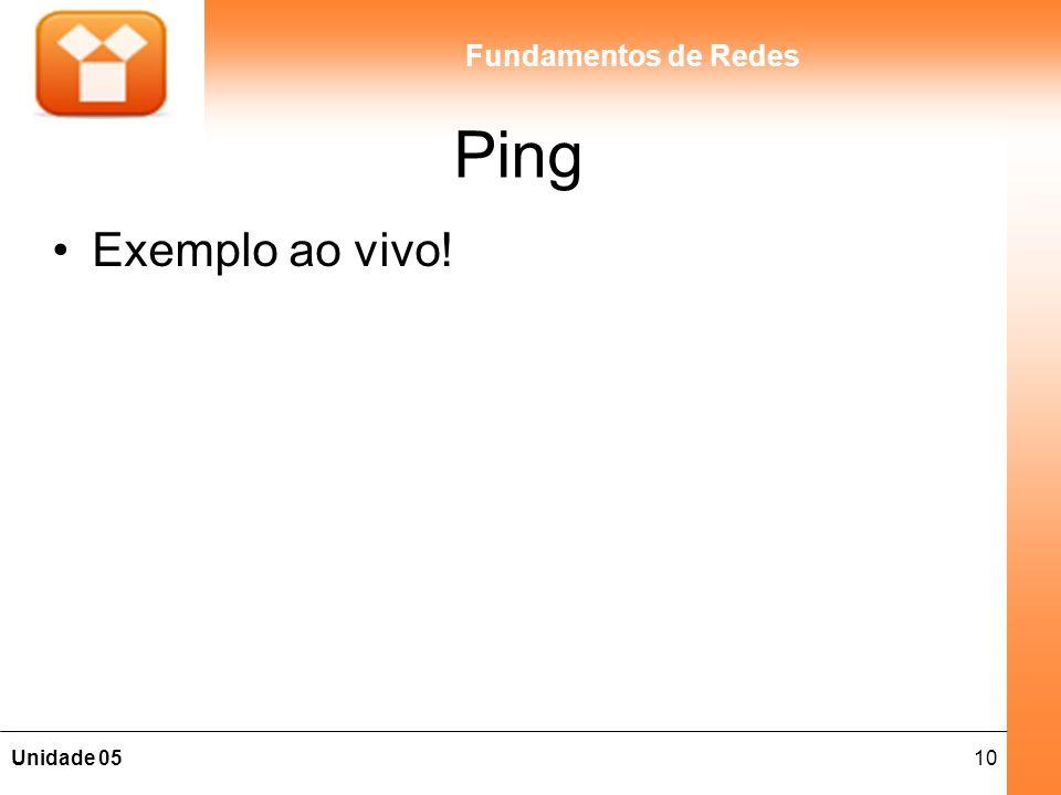 10Unidade 05 Fundamentos de Redes Ping Exemplo ao vivo!
