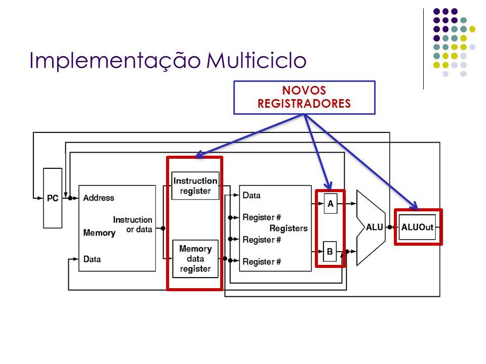Implementação Multiciclo NOVOS REGISTRADORES