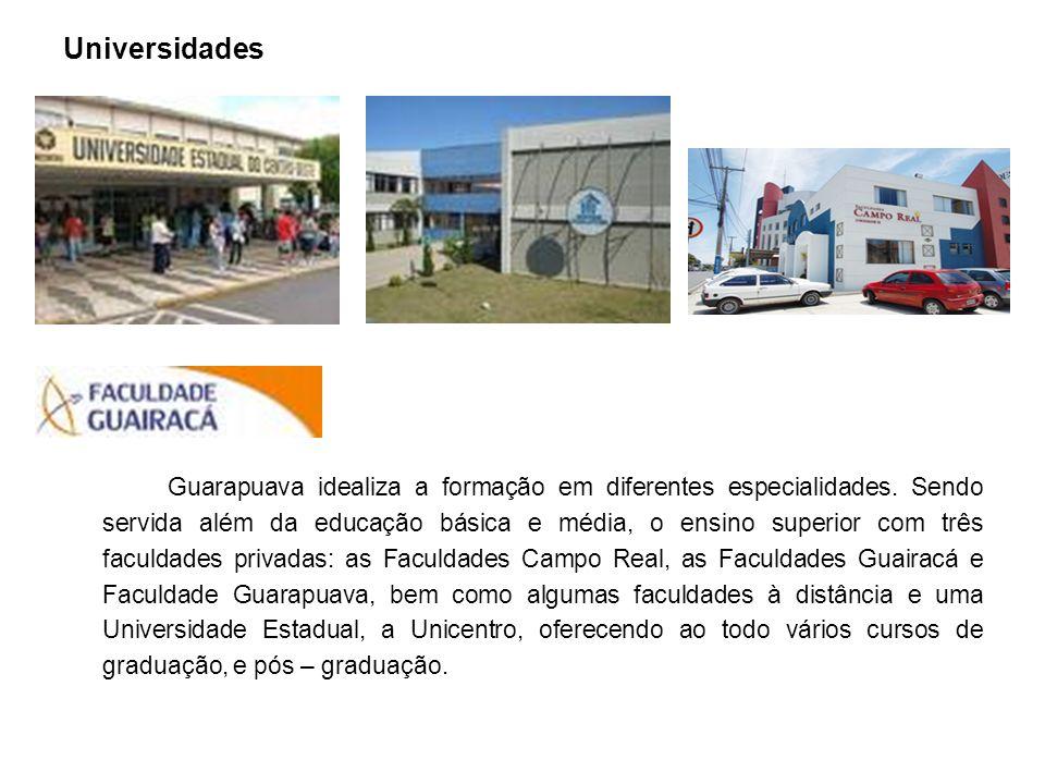 Universidades Guarapuava idealiza a formação em diferentes especialidades.