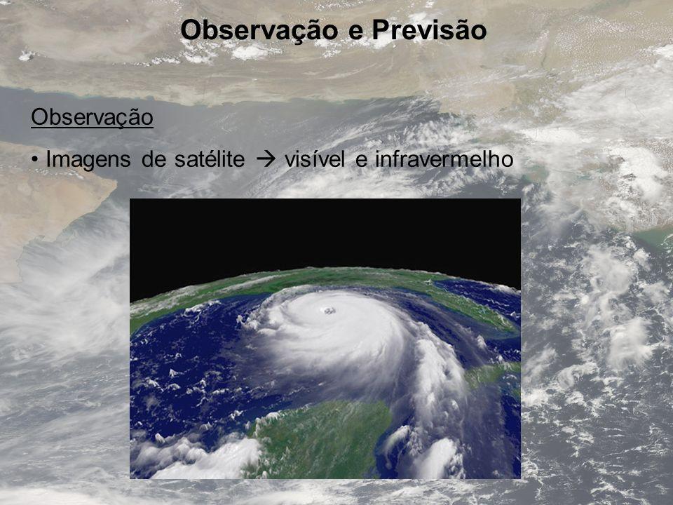 Observação e Previsão Observação Imagens de satélite visível e infravermelho