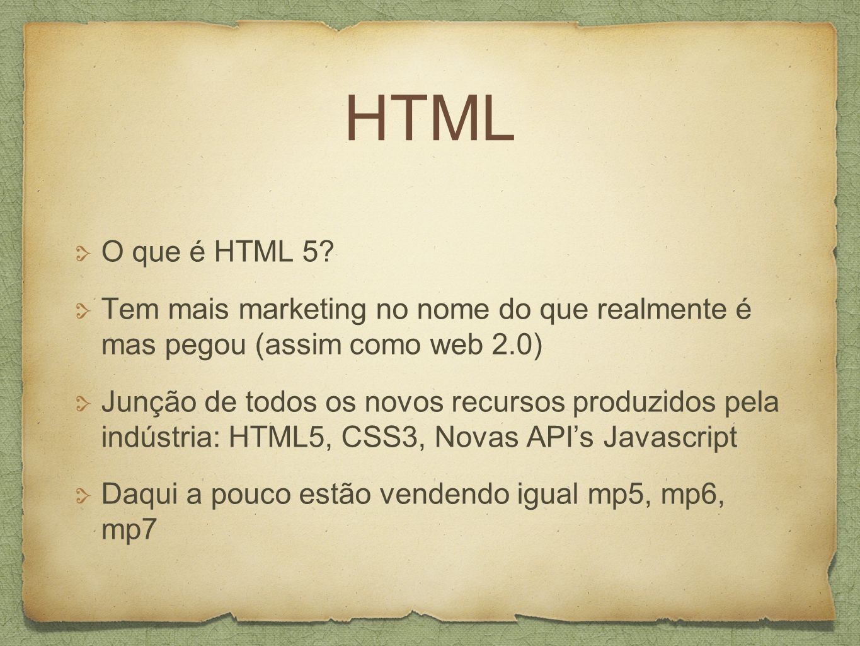 HTML O que é HTML 5.