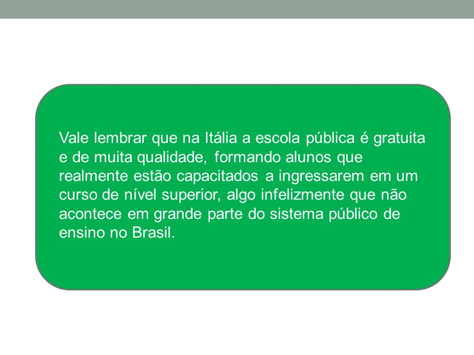 Scuola media A escola média (scuola media), é uma espécie de parte final do primerio grau brasileiro: desta fase participam estudantes entre 11 e 14 a