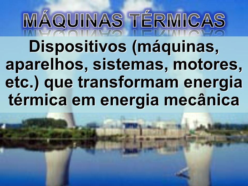 Dispositivos (máquinas, aparelhos, sistemas, motores, etc.) que transformam energia térmica em energia mecânica