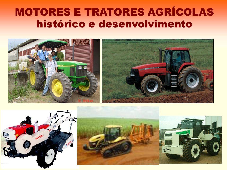O desenvolvimento de tratores agrícolas veio da necessidade de se cultivar grandes áreas para a produção de alimentos.