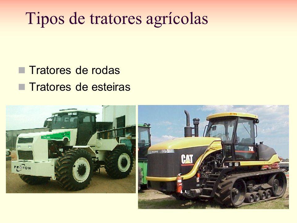 Tipos de tratores agrícolas Tratores de rodas Tratores de esteiras