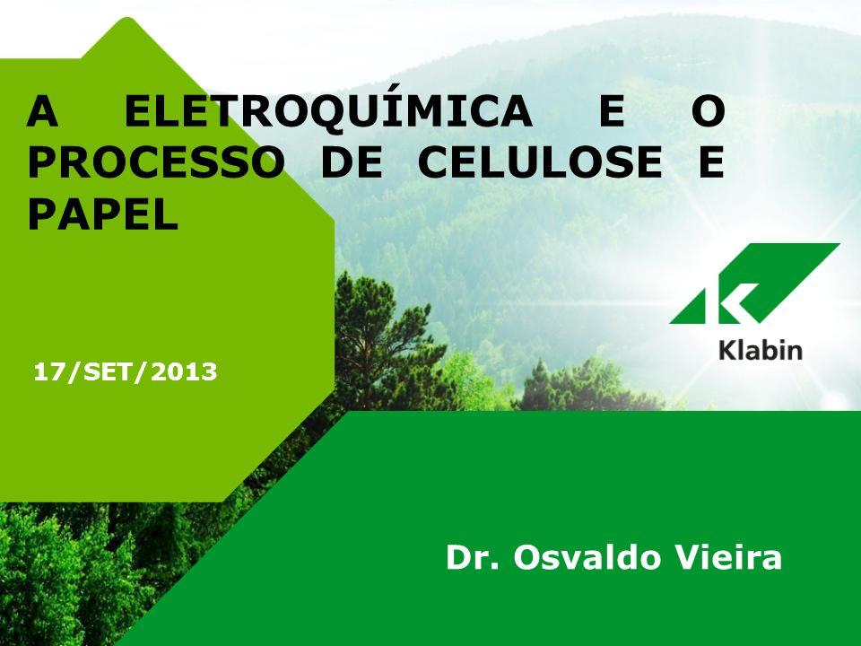 17/SET/2013 A ELETROQUÍMICA E O PROCESSO DE CELULOSE E PAPEL Dr. Osvaldo Vieira