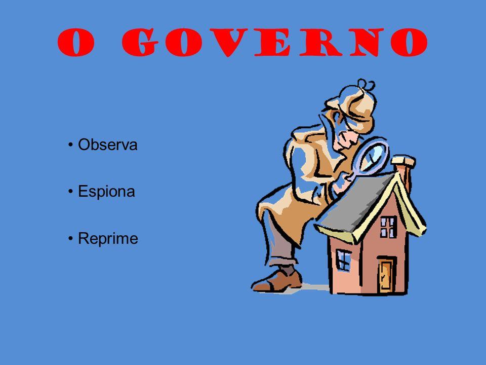 O GOVERNO Observa Espiona Reprime