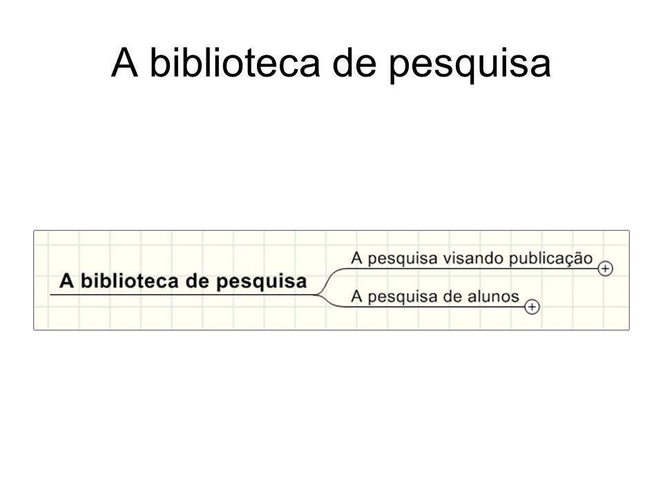 A biblioteca de pesquisa
