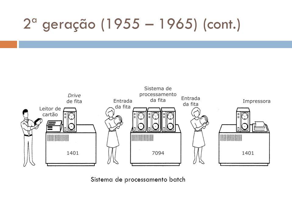 2ª geração (1955 – 1965) (cont.) Sistema de processamento batch