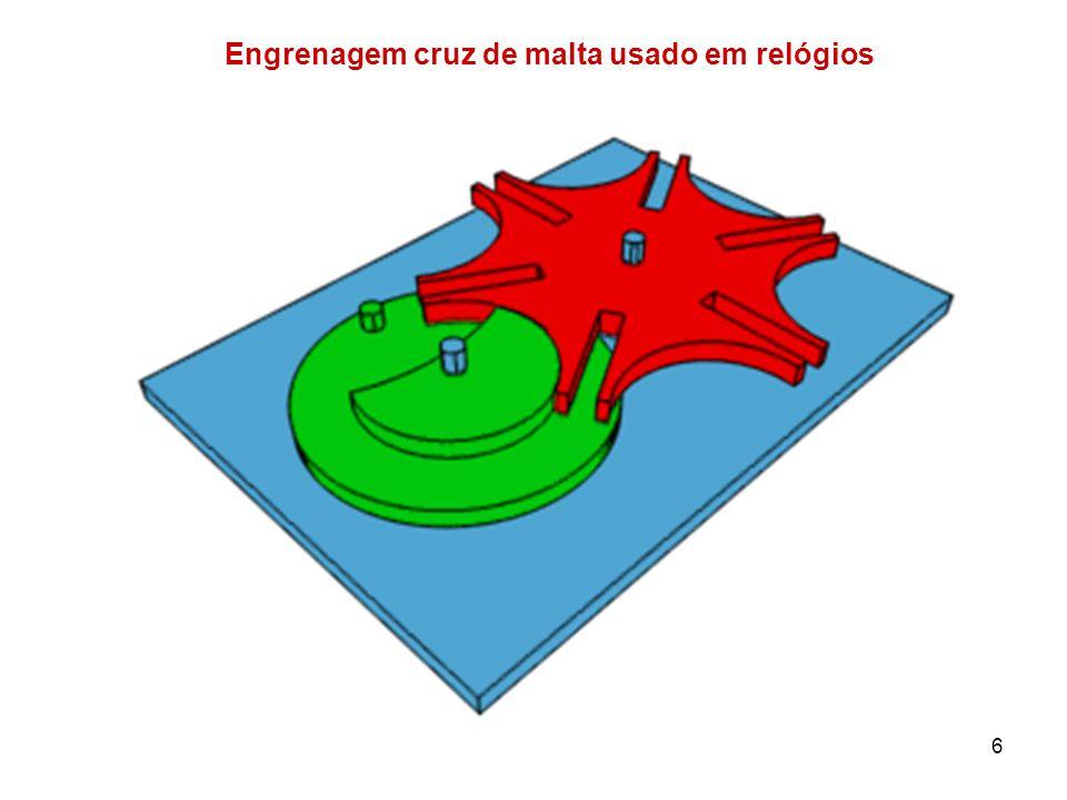 6 Engrenagem cruz de malta usado em relógios
