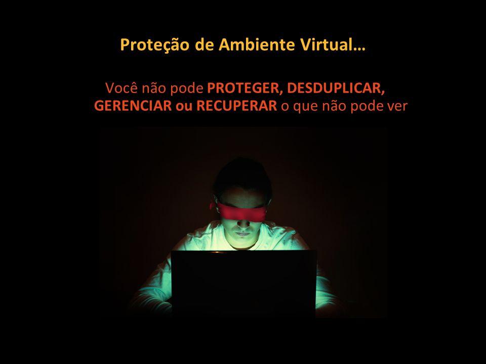 Você não pode PROTEGER, DESDUPLICAR, GERENCIAR ou RECUPERAR o que não pode ver Proteção de Ambiente Virtual…
