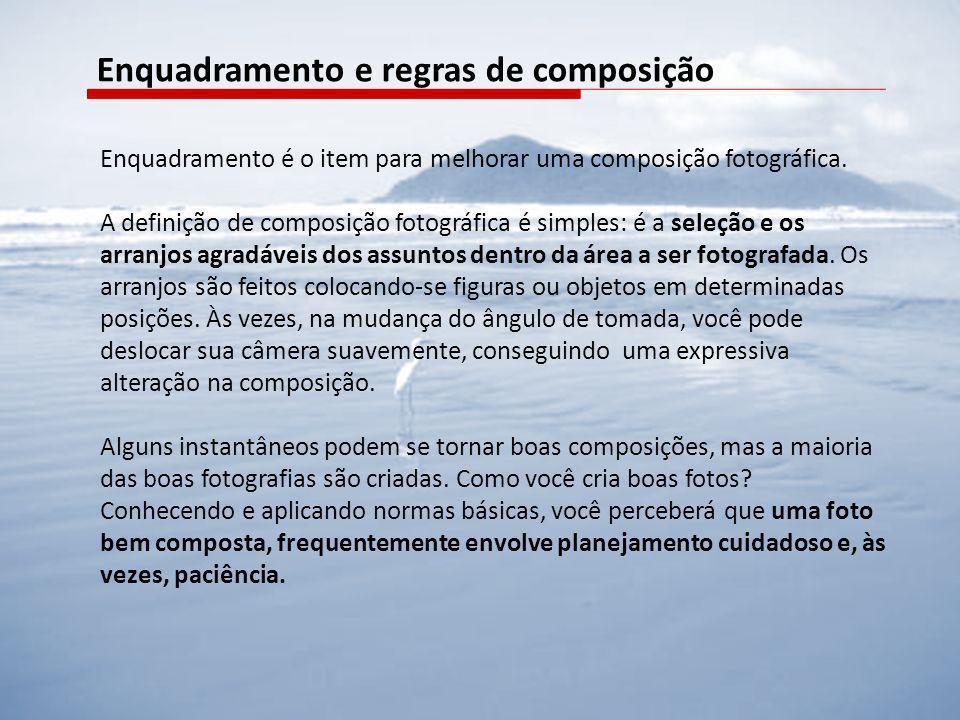Enquadramento é o item para melhorar uma composição fotográfica. A definição de composição fotográfica é simples: é a seleção e os arranjos agradáveis