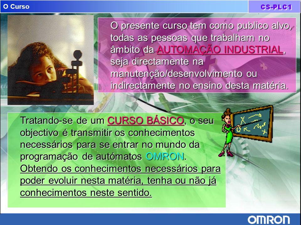 Software para programação de plc´s Sistema operativoSistema operativo –Windows 95, Windows 98, Windows NT 4.0 HardwareHardware –Processador: Pentium 133 MHz ou superior.
