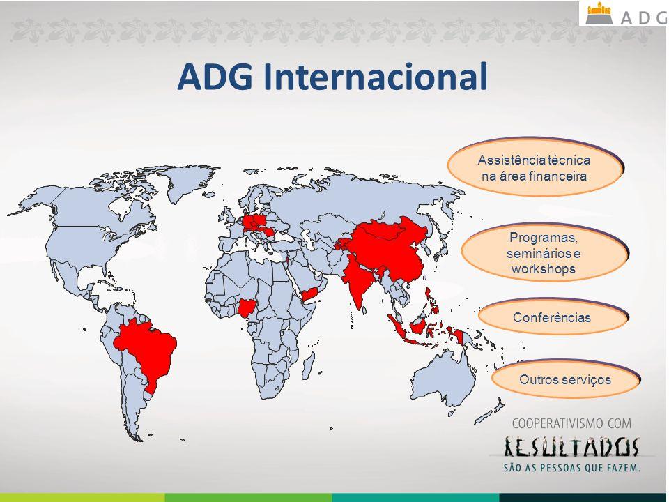 ADG Internacional Assistência técnica na área financeira Programas, seminários e workshops Conferências Outros serviços