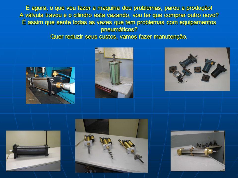 Manutenções e vendas de todas as marcas de equipamentos pneumáticos: Cilindros ISO-Especiais-Garras-Pinças-Válvulas-Tratamento de Ar Etc... Segue apre