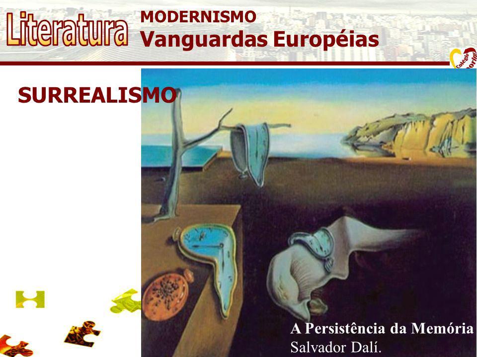 MODERNISMO Vanguardas Européias B11 FUTURISMO O futurismo é a concretização desta pesquisa no espaço bidimensional. Procura-se neste estilo expressar