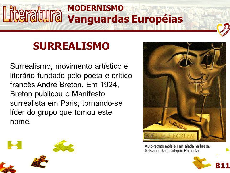 MODERNISMO Vanguardas Européias SURREALISMO A Persistência da Memória Salvador Dalí.