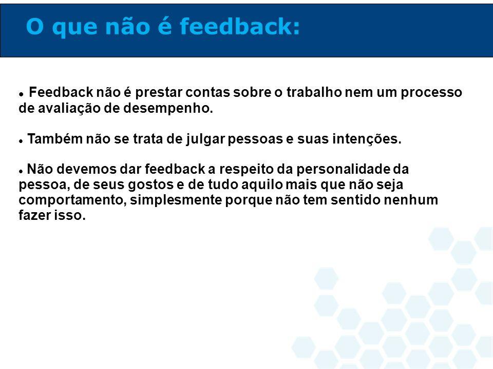 Feedback é a capacidade de dar e receber críticas, sugestões e elogios sobre alguma coisa pessoal ou profissional.
