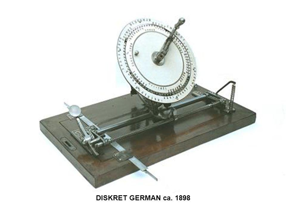 DISKRET GERMAN ca. 1898
