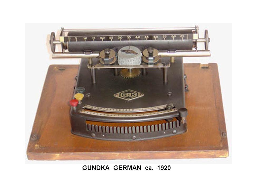 GUNDKA GERMAN ca. 1920