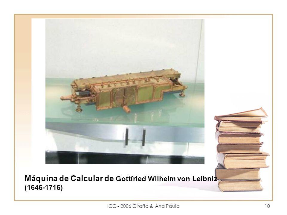 10 Máquina de Calcular de Gottfried Wilhelm von Leibniz (1646-1716)