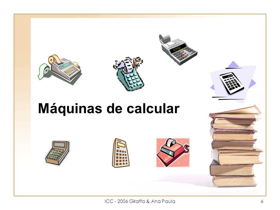 6 Máquinas de calcular