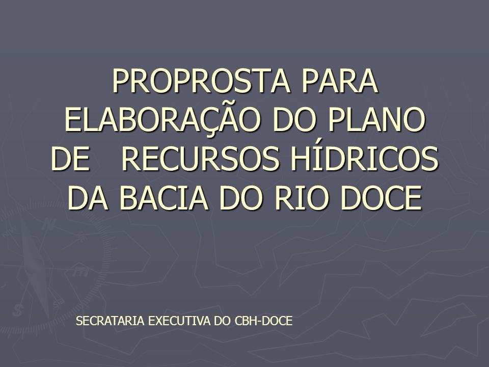PLANO DA BACIA DO RIO DOCE ESTRATÉGIA / EXECUÇÃO ESTRATÉGIA / EXECUÇÃO Rio que podemos: acordos sociais de amplo espectro, definidos no âmbito do CBH-Doce de forma integrada com os demais Comitês, com horizonte de curto e médio prazo, consubstanciado na definição de estratégias para revitalização, recuperação e conservação hidroambiental da bacia, na proposição de programa de ações e investimentos em serviços e obras de recursos hídricos, uso da terra e saneamento ambiental e na propositura de marcos institucionais e legais.