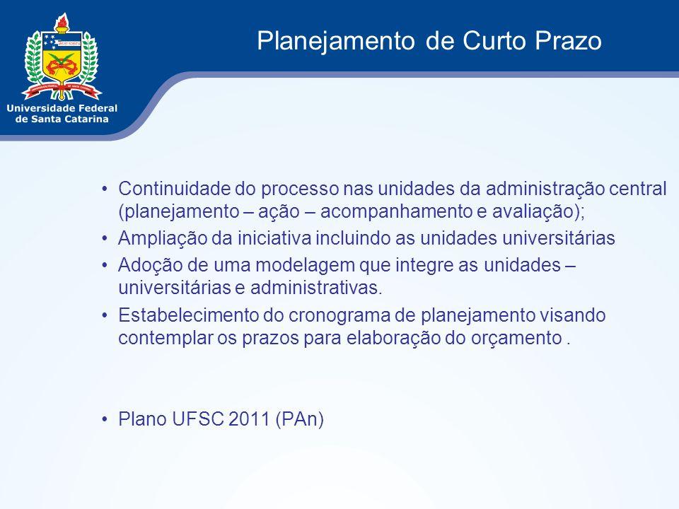 Continuidade do processo nas unidades da administração central (planejamento – ação – acompanhamento e avaliação); Ampliação da iniciativa incluindo a