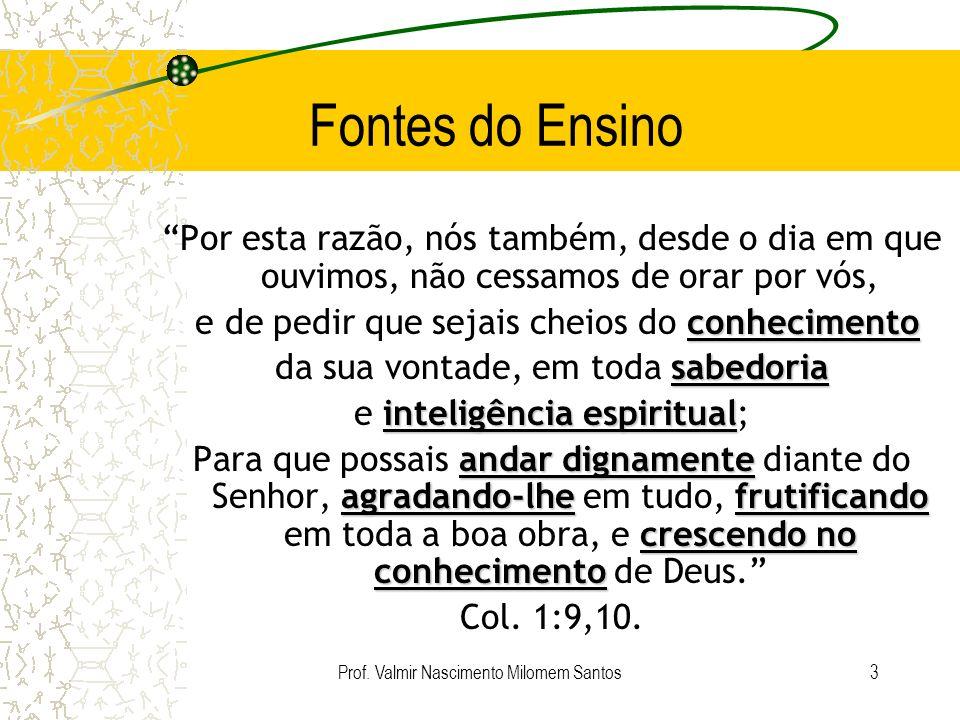 Prof. Valmir Nascimento Milomem Santos2 Facilitador Valmir Nascimento Milomem Santos Advogado e educador cristão