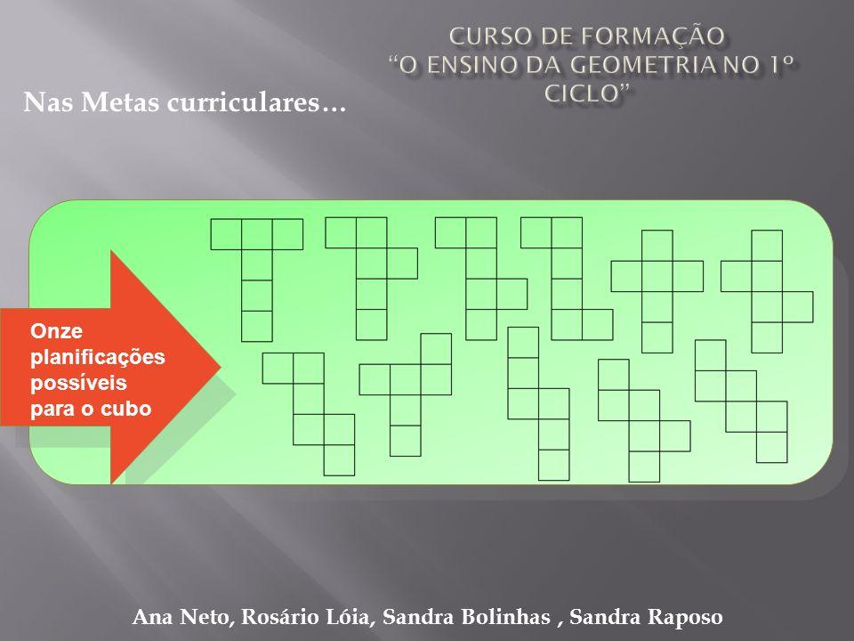 Ana Neto, Rosário Lóia, Sandra Bolinhas, Sandra Raposo Nas Metas curriculares… Onze planificações possíveis para o cubo