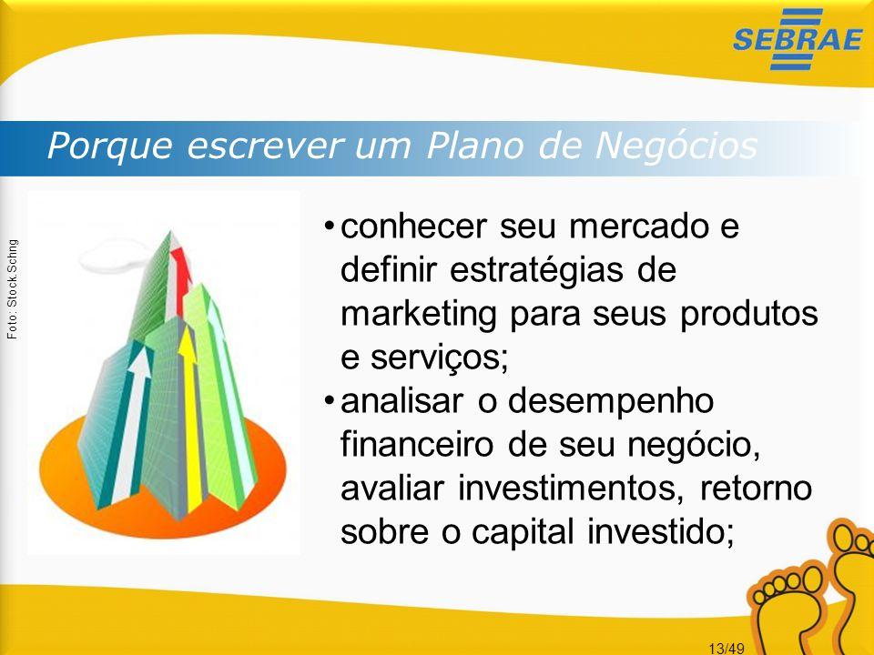 13/49 Porque escrever um Plano de Negócios Foto: Stock.Schng conhecer seu mercado e definir estratégias de marketing para seus produtos e serviços; an