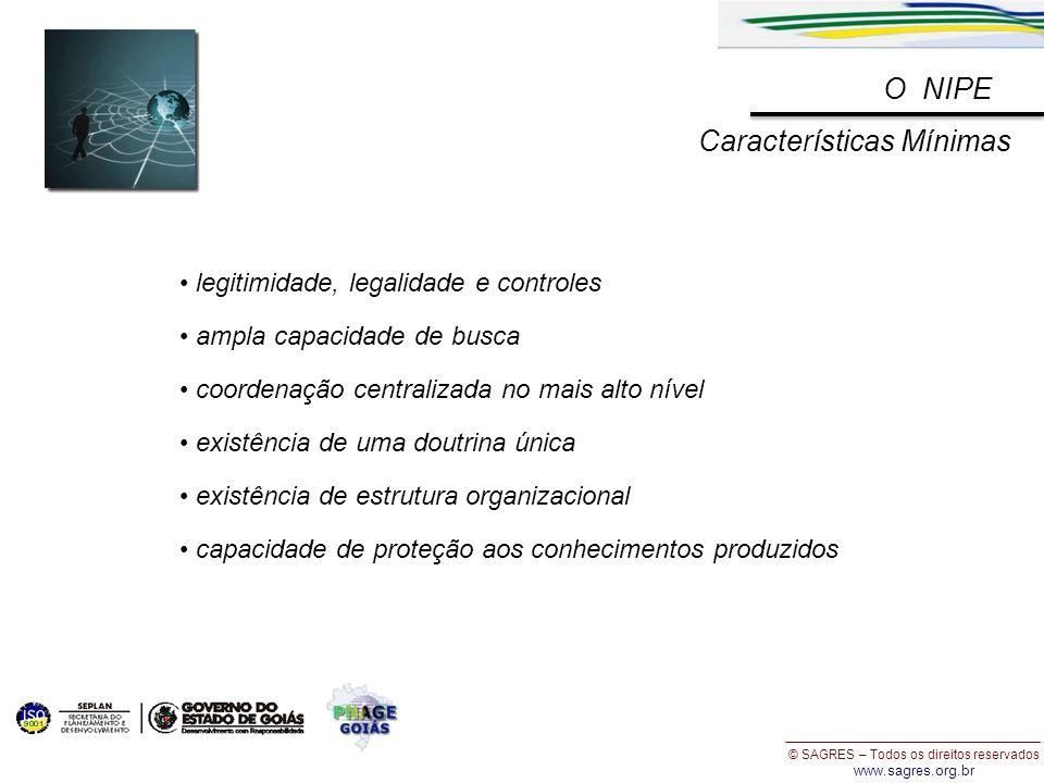 © SAGRES – Todos os direitos reservados www.sagres.org.br legitimidade, legalidade e controles ampla capacidade de busca coordenação centralizada no m