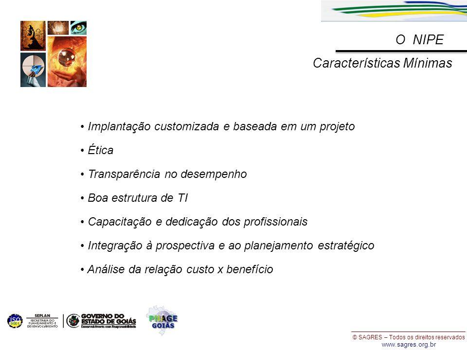 © SAGRES – Todos os direitos reservados www.sagres.org.br Implantação customizada e baseada em um projeto Ética Transparência no desempenho Boa estrut
