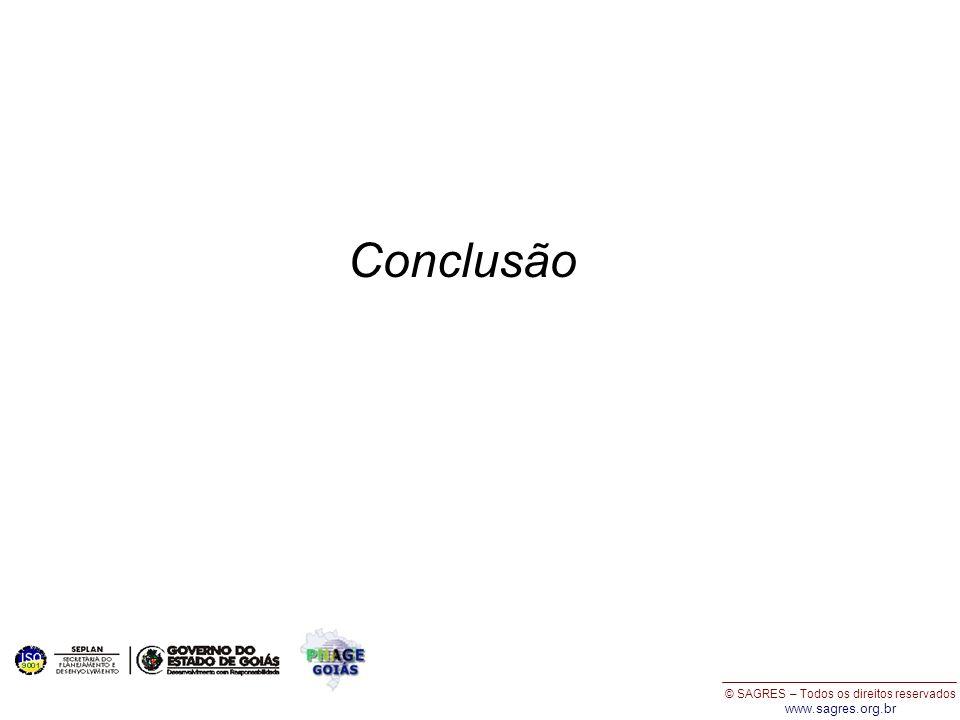 © SAGRES – Todos os direitos reservados www.sagres.org.br Conclusão