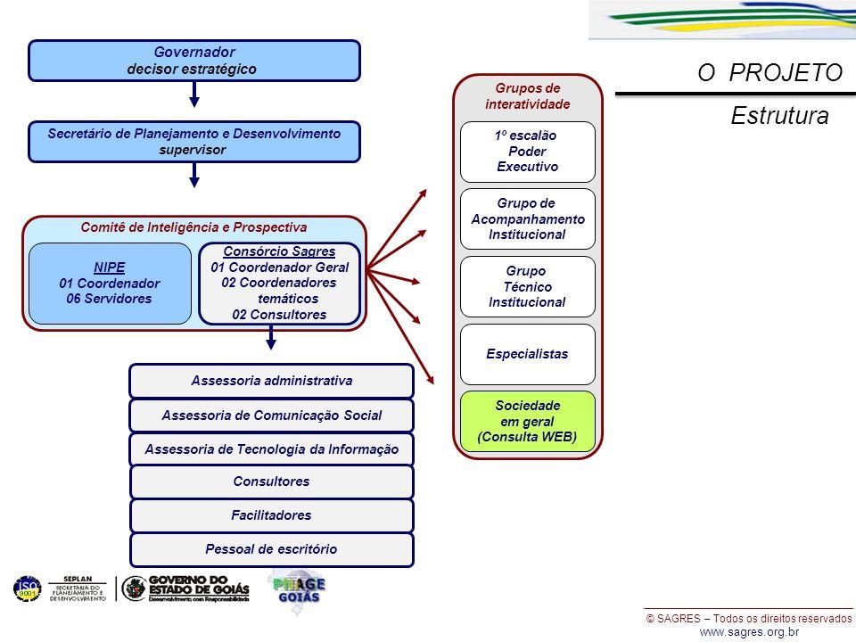 © SAGRES – Todos os direitos reservados www.sagres.org.br O PROJETO NIPE 01 Coordenador 06 Servidores Comitê de Inteligência e Prospectiva Consórcio S