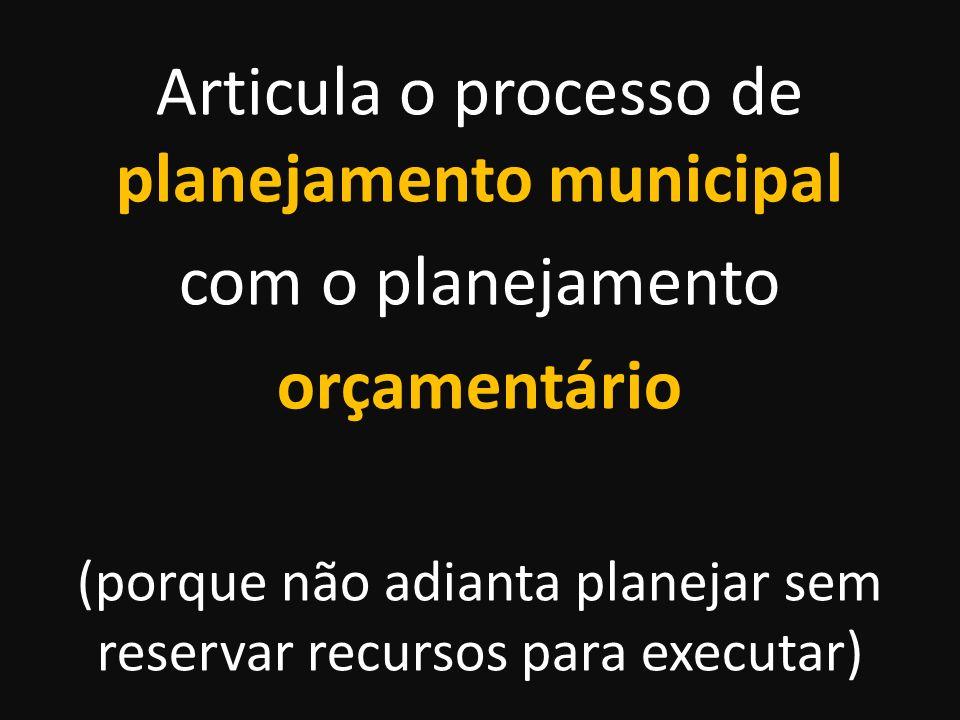 Deve ser participativo para que o território do município seja utilizado de acordo com o interesse público e em benefício da coletividade
