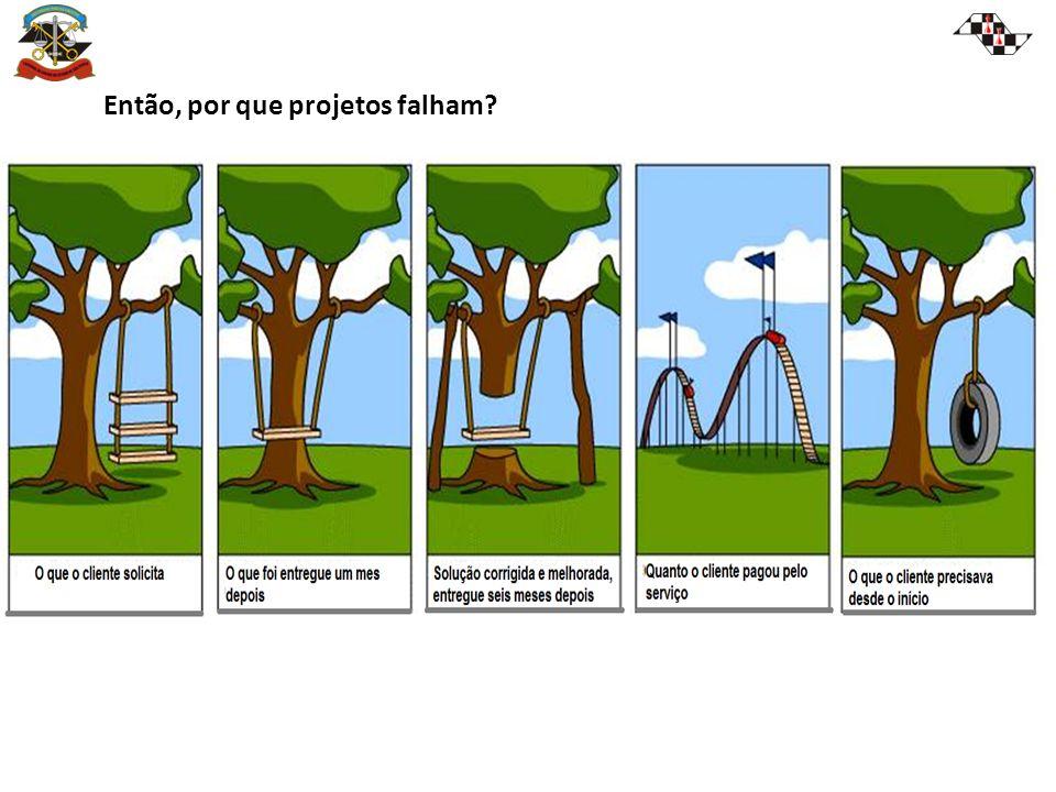 Então, por que projetos falham?