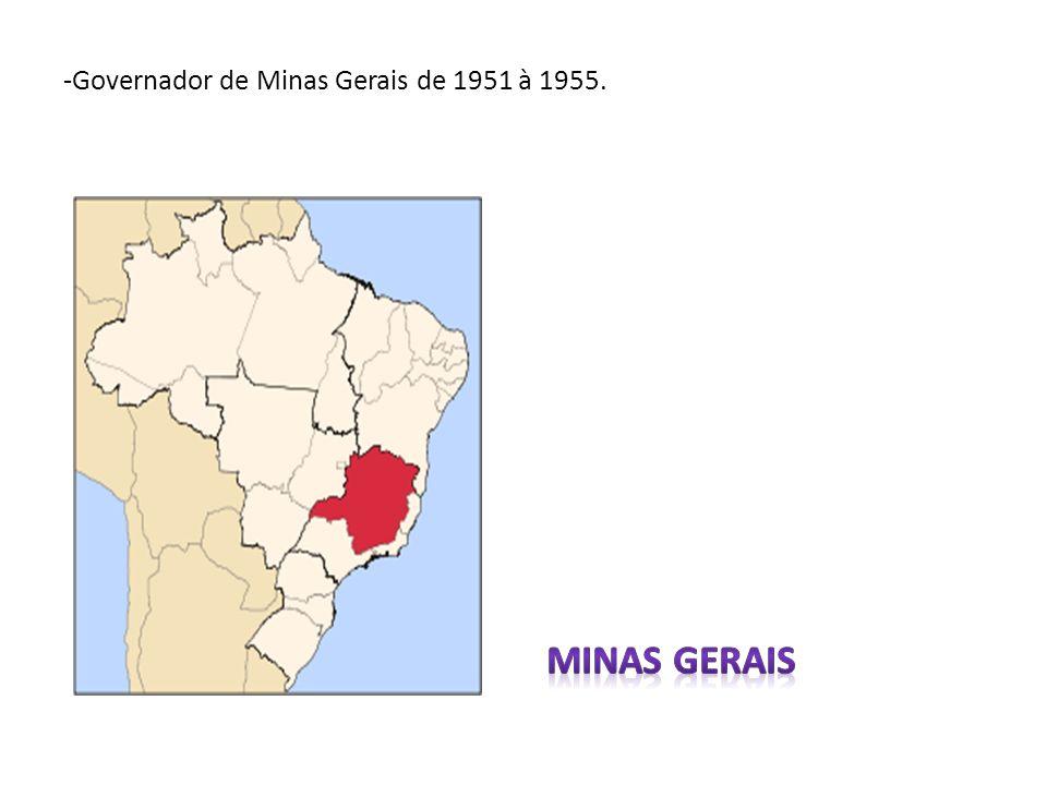 -Governador de Minas Gerais de 1951 à 1955.