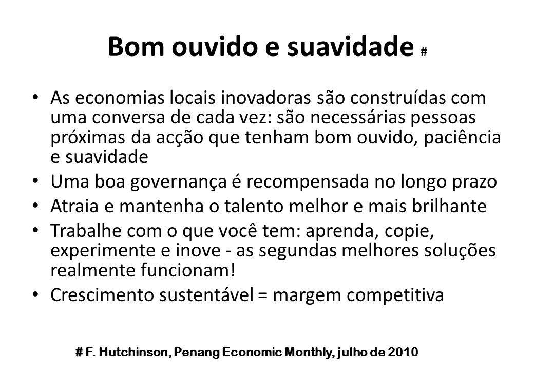 Bom ouvido e suavidade # As economias locais inovadoras são construídas com uma conversa de cada vez: são necessárias pessoas próximas da acção que te