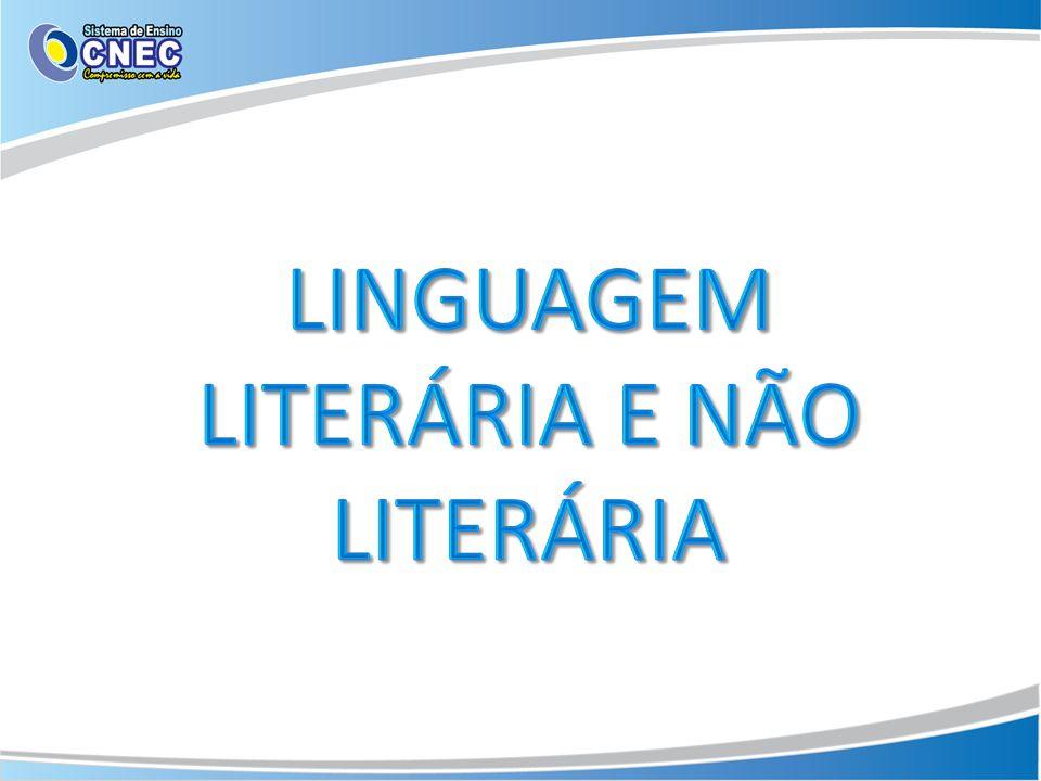 A linguagem não literária trata do mundo real de forma direta e objetiva.