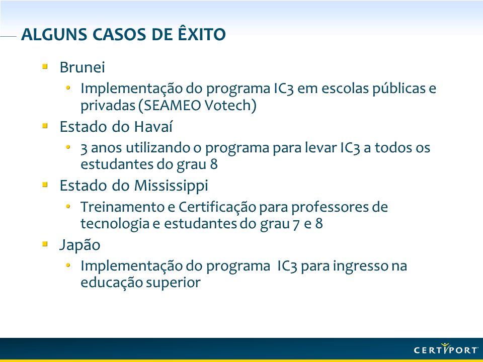 RESPEITO A IC 3 IC³ IC³ foi projetado para validar as competências básicas de computação e o conhecimento de Internet de um indivíduo para assim promover o êxito na escola, no trabalho e na vida.