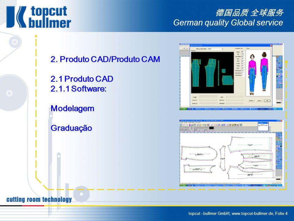 topcut - bullmer GmbH, www.topcut-bullmer.de, Folie 4 German quality Global service 2. Produto CAD/Produto CAM 2.1 Produto CAD 2.1.1 Software: Modelag