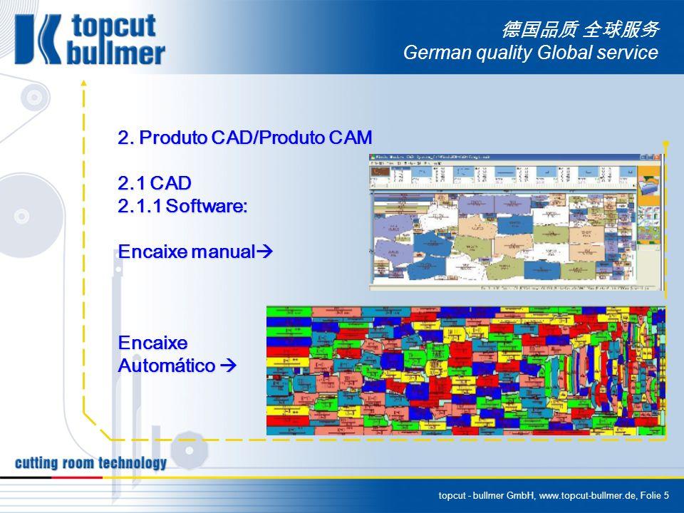 topcut - bullmer GmbH, www.topcut-bullmer.de, Folie 5 German quality Global service 2. Produto CAD/Produto CAM 2.1 CAD 2.1.1 Software: Encaixe manual