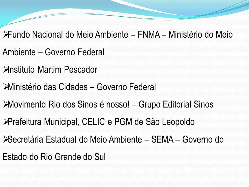 Fundo Nacional do Meio Ambiente – FNMA – Ministério do Meio Ambiente – Governo Federal Instituto Martim Pescador Ministério das Cidades – Governo Fede