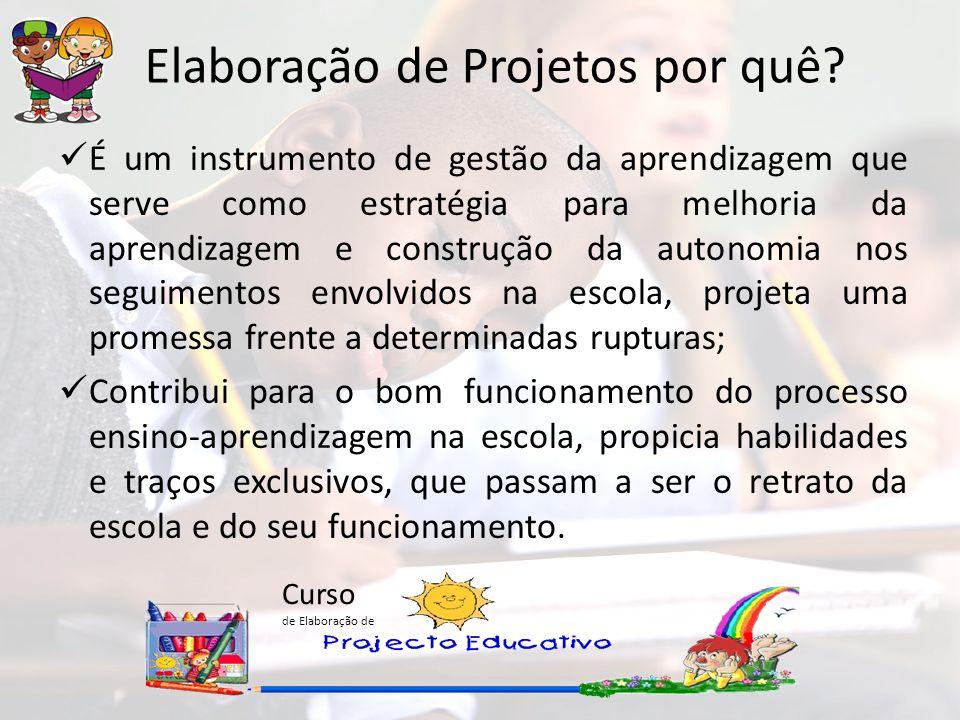 Curso de Elaboração de É um instrumento de gestão da aprendizagem que serve como estratégia para melhoria da aprendizagem e construção da autonomia no