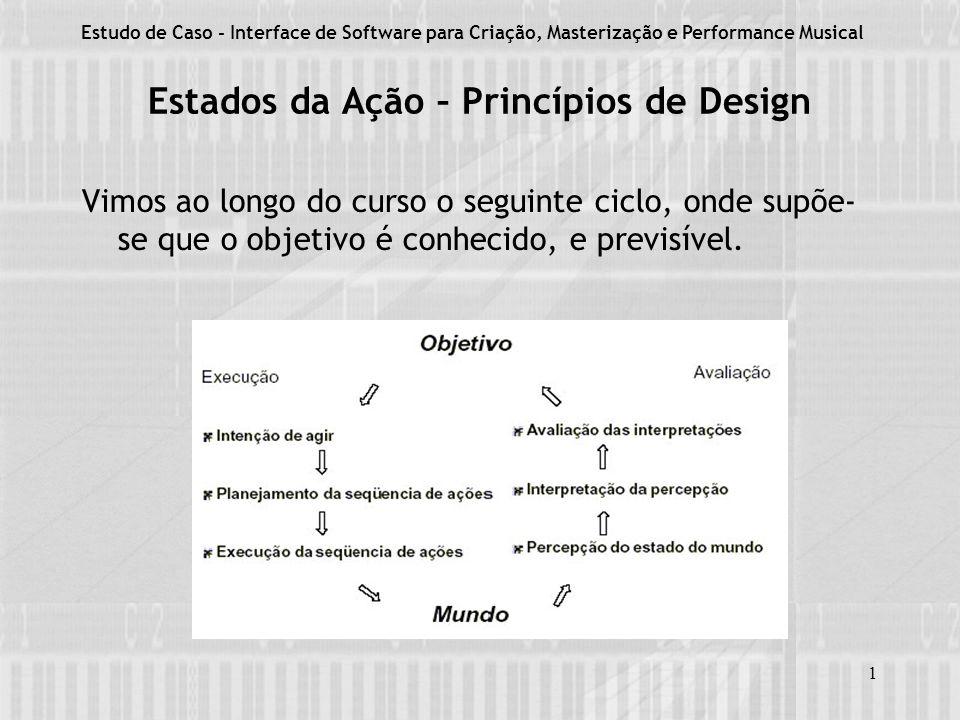 1 Estados da Ação – Princípios de Design Vimos ao longo do curso o seguinte ciclo, onde supõe- se que o objetivo é conhecido, e previsível.