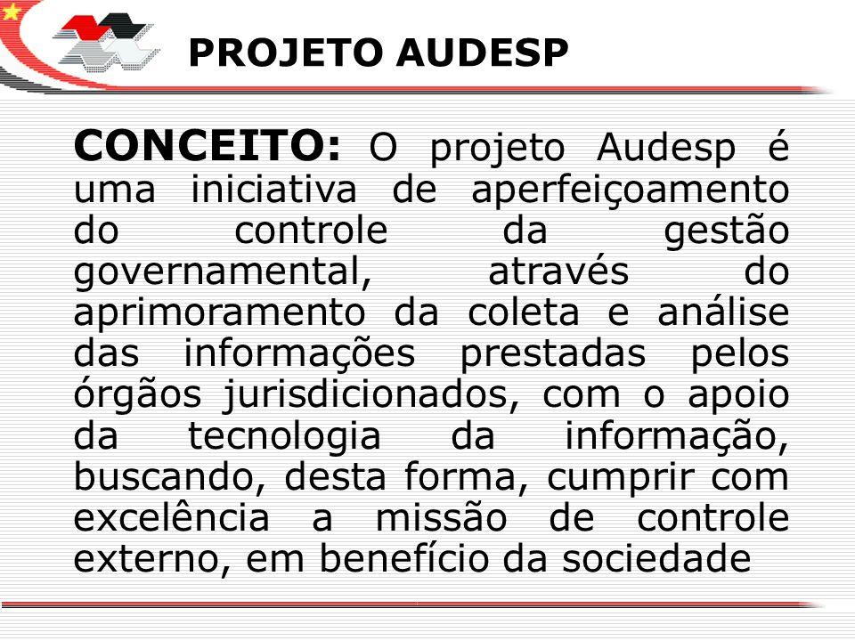 X PROJETO AUDESP CONCEITO: O projeto Audesp é uma iniciativa de aperfeiçoamento do controle da gestão governamental, através do aprimoramento da colet